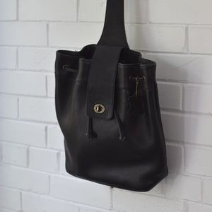 Leather purse back pack